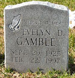 Evelyn D Gamble