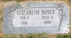Elizabeth Catherine <I>Symmonds</I> Boyce