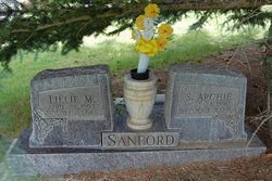 """Lillian Viola """"Lillie"""" <I>Moore</I> Sanford"""