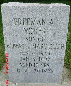 Freeman A Yoder
