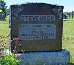 Mary Elizabeth <I>Barr</I> Stevenson