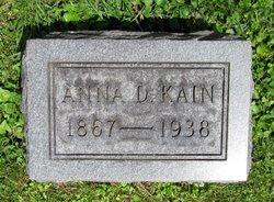 Anna Pemberton <I>Dunlap</I> Kain