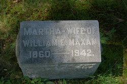 Martha <I>Taylor</I> Maxam