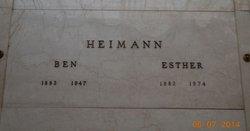 Esther <I>Althof</I> Heimann