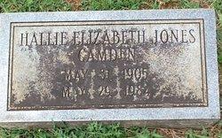 Hallie Elizabeth <I>Jones</I> Camden