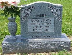 Nancy Juanita <I>Cotton</I> Wyrick