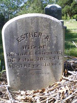 Esther A. <I>Hilliard</I> Coleman