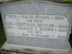 May H <I>Whann</I> Brown