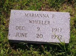 Marianna F. <I>Horner</I> Wheeler