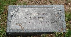 Alice <I>VanDoren</I> Brockett