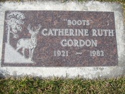"Catherine Ruth ""Boots"" Gordon"