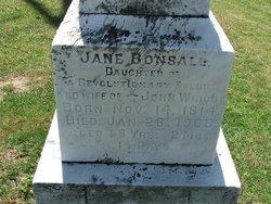 Jane <I>Bonsall</I> Wright