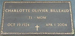 """Charlotte """"Ti-Mom"""" <I>Olivier</I> Billeaud"""