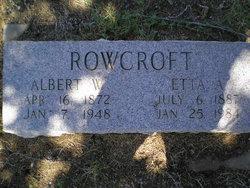 Albert Williamson Rowcroft