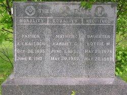 Harriet Georgiana <I>Stover</I> Kalloch