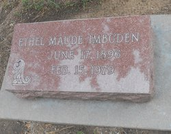 Ethel Maude <I>Hughes</I> Imboden