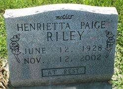 Henrietta Paige Riley