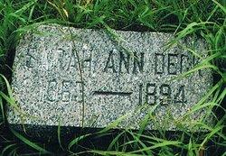 Sarah Ann <I>Lane</I> Deck