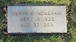 Sarah Edwards <I>Tyler</I> Henshaw