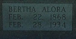 Bertha Alora <I>Cole</I> Bagley