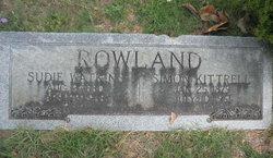 "Susan Bullock ""Sudie"" <I>Watkins</I> Rowland"