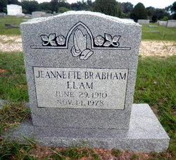 Bertha Jeannette <I>Brabham</I> Elam