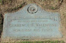 Clarence F Valentine