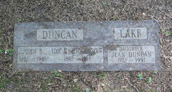 Jean <I>Duncan</I> Lake