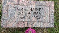 Julia Emmaline <I>Garrett</I> Haines