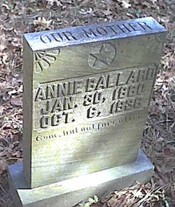 "Nancy Indiana Isabell ""Annie"" <I>Morton</I> Ballard"