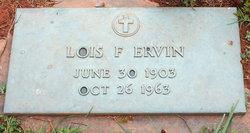 Mary Lois <I>Frye</I> Ervin