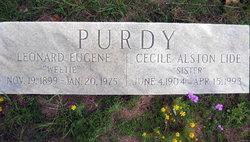 "Cecile Alston ""Sister"" <I>Lide</I> Purdy"