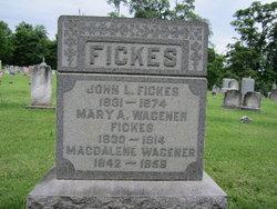 Mary A <I>Wagener</I> Fickes