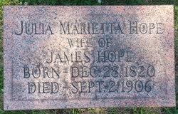 Julia <I>Marietta</I> Hope