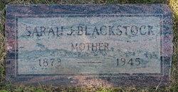 Sarah Jeanette <I>Hicks</I> Blackstock