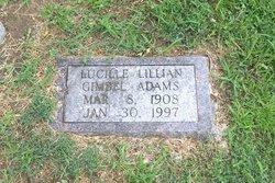 Lucille Lillian <I>Gimbel</I> Adams