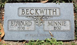 Mary  Minnie Ann <I>Brown</I> Beckwith