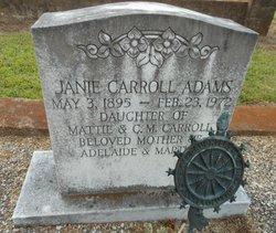 Janie <I>Carroll</I> Adams
