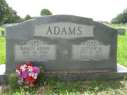 "Nancy Adeline ""Addie"" <I>Barnett</I> Adams"