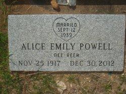 Alice Emily <I>Reeh</I> Powell