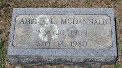 Amelia Johnson <I>Lowery</I> McDannald