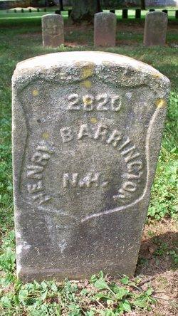 Pvt Henry Barrington
