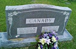 "Margaret Elizabeth ""Lizzie"" <I>Gray</I> Canady"