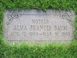 Alma Frances <I>Zimmerman</I> Baum