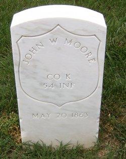 Pvt John W. Moore