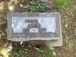 "Grace F. ""Gracie"" <I>Buckman</I> Asher"
