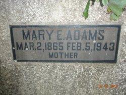 Mary E. <I>Singletery</I> Adams