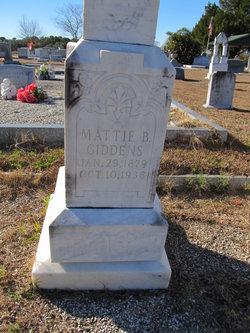 """Martha """"Mattie"""" <I>Bradford</I> Giddens"""
