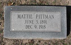 Mattie <I>Van Dorn</I> Pittman