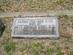 Sarah Frances <I>King</I> West